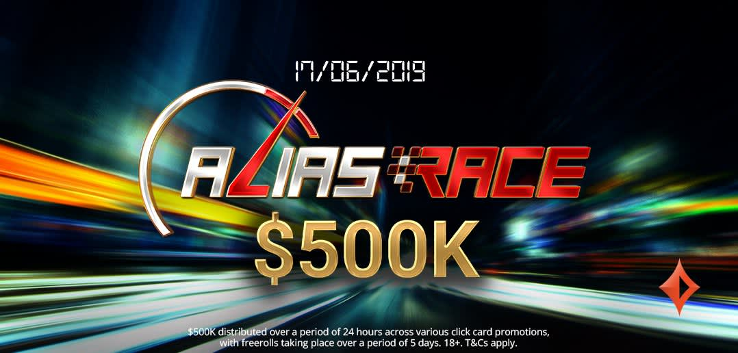 Гонка $500K Alias Race на partypoker