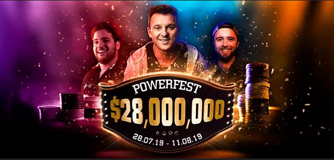 Начало турнира Powerfest в руме Partypoker