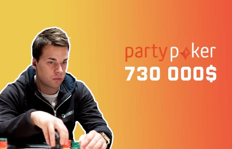 730 тысяч долларов выиграл Сэм Келопуро в GG Series на partypoker