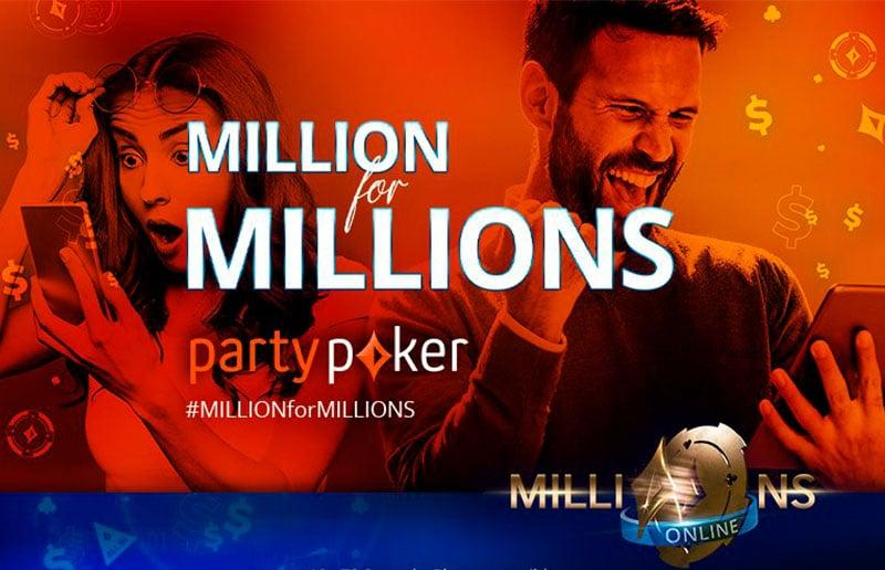 Million for MILLIONS на partypoker