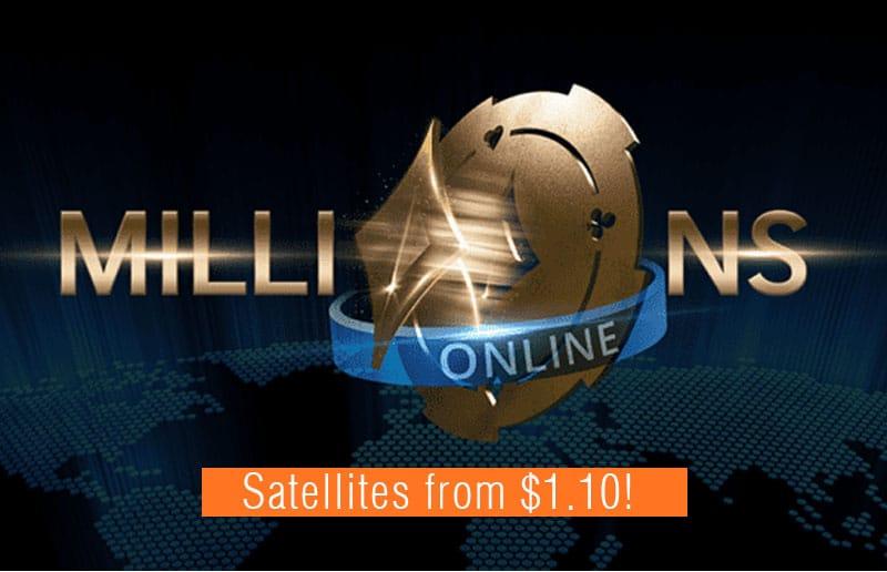 Как пройти отбор на Millions Online с гарантированным фондом 20 миллионов долларов через сателлиты от 1,10 доллара