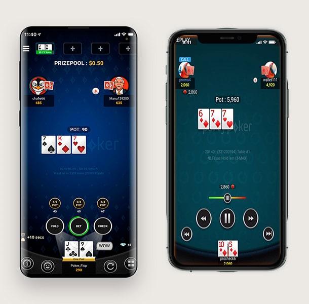 Новый мобильный клиент Partypoker