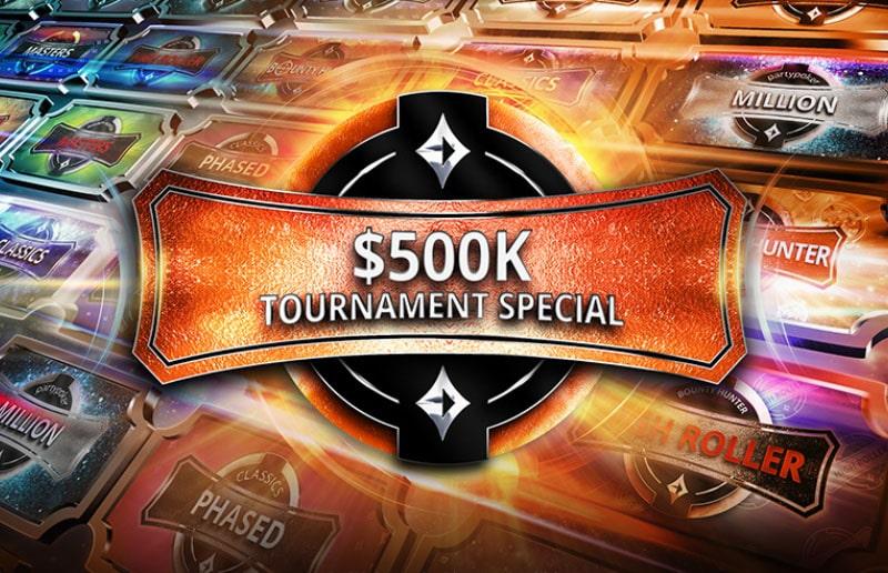 Новая акция на partypoker: фрироллы к турниру $500K Tournament