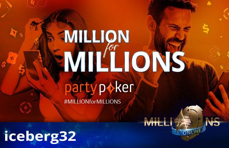 iceberg32 прошел на MILLIONS Online бесплатно!