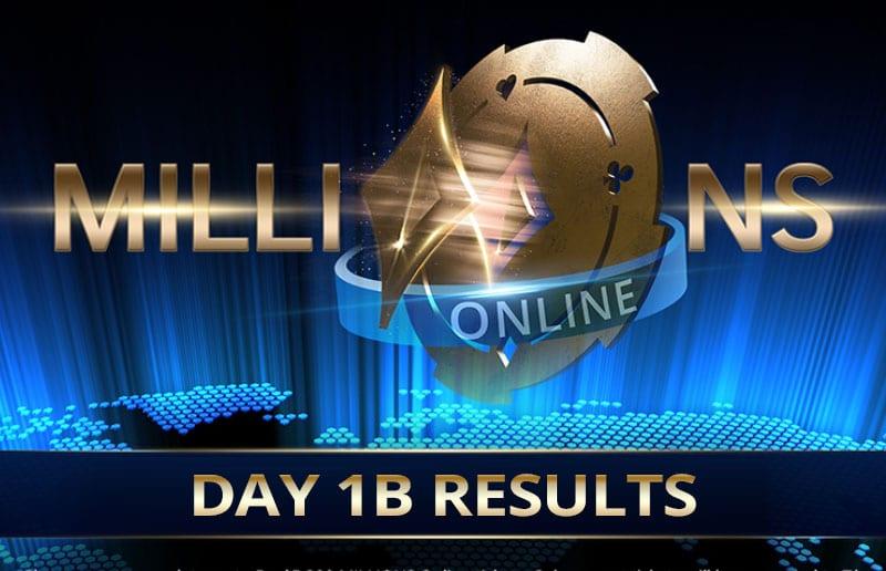 Millions Online Результаты дня 1B