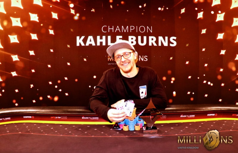 Кале Бернс выиграл суперхайроллер UK MILLIONS
