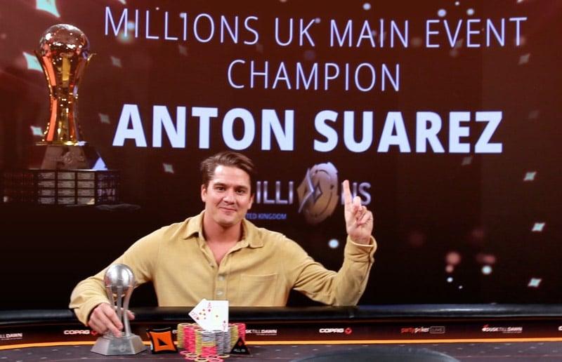 Антон Суарез выиграл Главный Турнир MILLIONS UK 2020 и забрал 1 миллион долларов