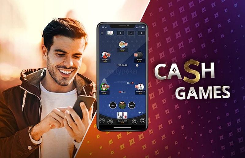 Кэш-игры в портретном режиме доступны в мобильном приложении partypoker