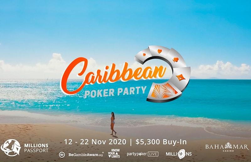 Два пятимиллионных турнира будут проходить на Caribbean Poker Party