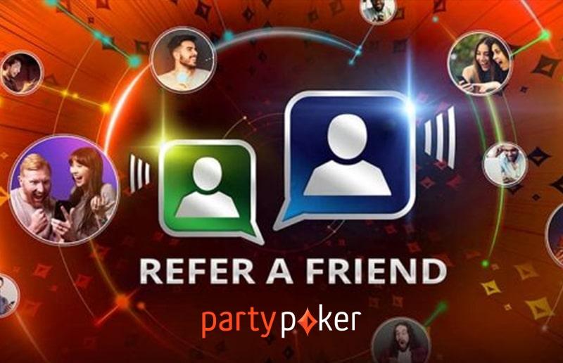 Игроки partypoker могут приглашать друзей и получать за это рейкбек до 2,5 тысяч долларов