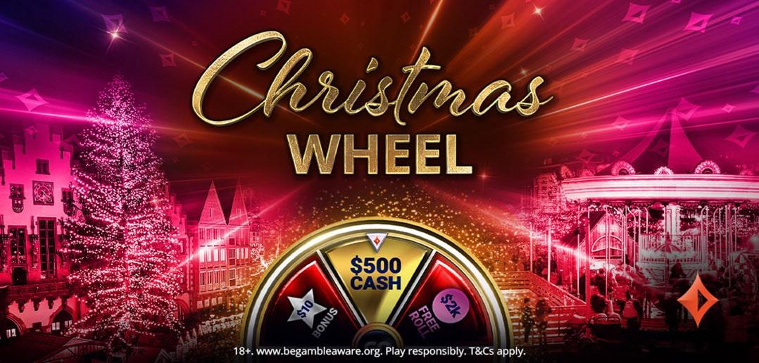 Рождественская акция Christmas Wheel на partypoker: успей выиграть большие призы