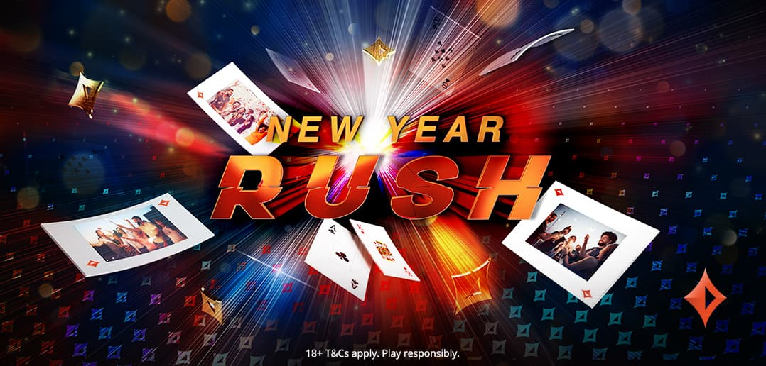 Выиграйте до пяти ежедневных призов в рекламной акции New Year Rush на partypoker