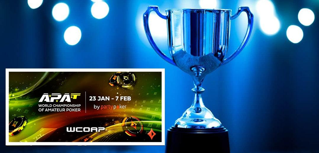 Чемпионы среди любителей-суперхайроллеров в прошедших турнирах любительской онлайн-серии APAT WCOAP на partypoker