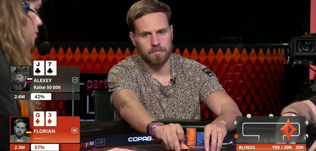 Флориан Ленерт лидирует в турнире MILLIONS Online Mega High Roller за $102K