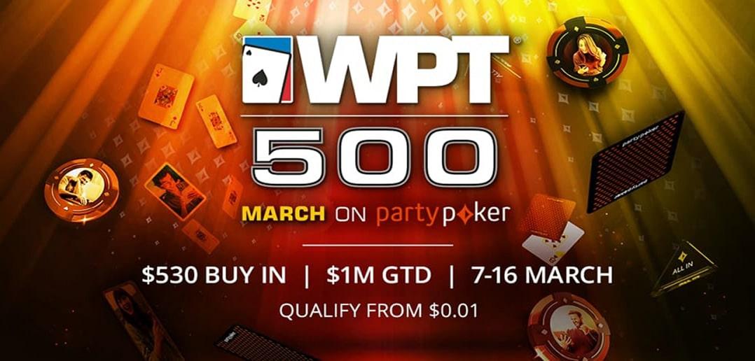 На partypoker началась серия WPT500!